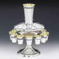 Filligree Sterling Silver Kiddush Fountain