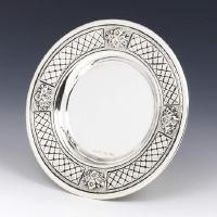 Ornate Sterling Silver Kiddish Cup Tray
