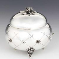 Bowl Shape Sterling Silver Honey Dish