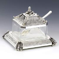 Sterling Silver Honey Dish with tray