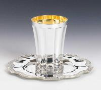 sterling  Silver Kiddish Cup and tray set
