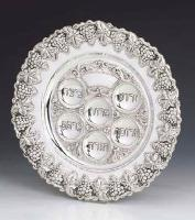 Traditional Silver Seder Tray