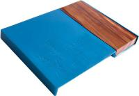Blue Aluminum and Wood Challah Board