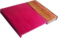Pink Aluminum and Wood Challah Board