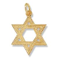 Braided Gold Jewish Star Pendant