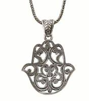 Hamsa Necklace - Filigree
