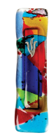 Rainbow Glass Mezuzah