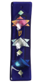 Blue Star Glass Mezuzah