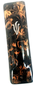 Brown Marbled Glass Mezuzah