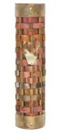 Gary  Rosenthal Mezuzah Cover with woven copper