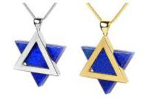 Star of David with Lapis Stone