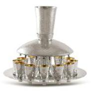 Hammered Sterling Silver Kiddush Fountain