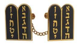 Black and Gold tablet Tallit Clip