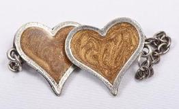 Gold Heart Talet Clips