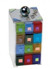 Glass on Metal Tzedakah Box