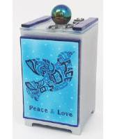 Glass Dove TZEDAKAH BOX