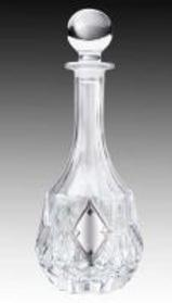 Crystal and Sterling Silver Wine Decanter