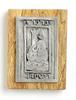 Wood and pewter art wall plaque